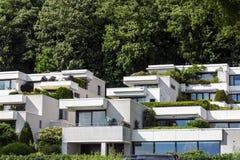 Hus i Hamburg Arkivbilder