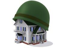 Hus i hjälm Arkivfoto