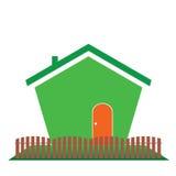Hus i illustration för grön färg Arkivbild