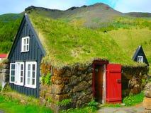 Hus i Island Fotografering för Bildbyråer