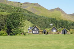 Hus i Island Arkivfoto