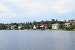 Hus i Island Royaltyfri Foto