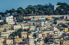 Hus i Jerusalem Royaltyfria Bilder