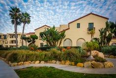 Hus i La Jolla, Kalifornien royaltyfria foton