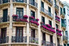 Hus i Lisbon Arkivfoton