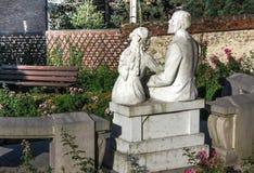 Hus i Lisieux, var hon bodde St Therese av barnet Jesu Royaltyfria Foton