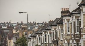 Hus i London Arkivbild