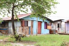 Hus i Manokwari Arkivbild