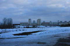 Hus i Minsk royaltyfria bilder