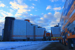 Hus i Minsk royaltyfri bild