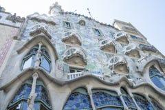 Hus i mitten av Barcelona Fotografering för Bildbyråer