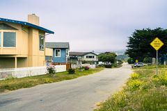 Hus i Moss Beach Royaltyfri Foto