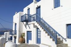 Hus i Mykonos Fotografering för Bildbyråer