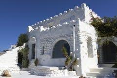 Hus i Mykonos Arkivfoton