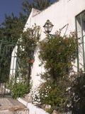 Hus i Nerja, en sömnig spansk feriesemesterort på Costa Del Sol nära Malaga, Andalucia, Spanien, Europa Royaltyfri Bild