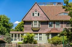 Hus i Oak Park Arkivbild