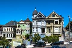 Hus i San Francisco, Kalifornien Arkivfoto