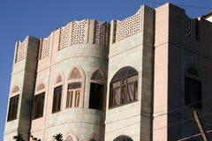 Hus i Sanaa, Yemen, Mellanösten Royaltyfria Foton