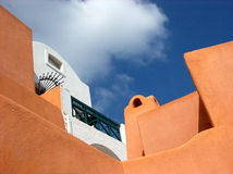 Hus i Santorini Royaltyfri Bild