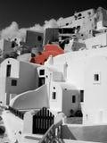 Hus i Santorini Arkivfoto