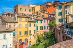 Hus i Siena Arkivfoton