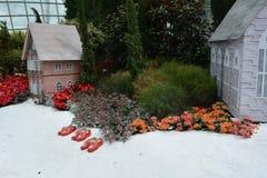 Hus i snö Royaltyfria Foton
