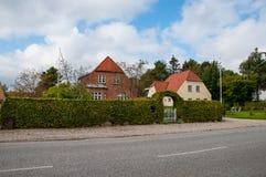 Hus i stad av Soroe Royaltyfri Bild