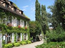 Hus i staden av Strasbourg Arkivbild