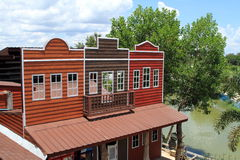 Hus i stilen av en cowboy Royaltyfri Foto