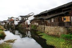 Hus i sydliga Kina Arkivfoto