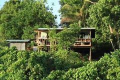 Hus i trees Fotografering för Bildbyråer