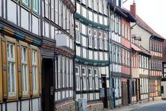 Hus i Wernigerode Arkivbilder