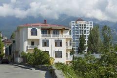 Hus i Yalta, Krim arkivfoton
