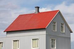 hus iceland Arkivbild