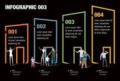 Hus Infographic Arkivfoto