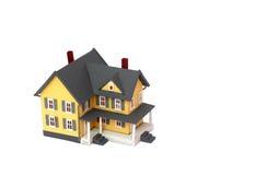 hus isolerad miniatyrwhite royaltyfri fotografi