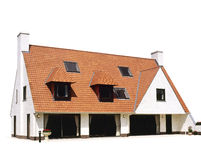hus isolerad white arkivbilder