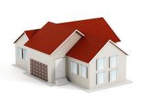 hus isolerad white Arkivbild