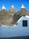 hus italy traditionella puglia Arkivbild