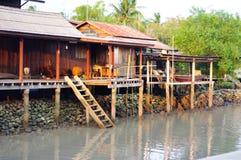 Hus längs kanalerna Royaltyfria Bilder