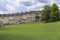 Hus längs Marlborough byggnader, bad, UK Fotografering för Bildbyråer