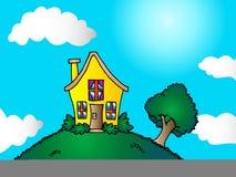 hus little royaltyfri illustrationer