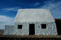 hus little som är vit Arkivfoto