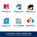 Hus Logo Template Design Vector Fotografering för Bildbyråer