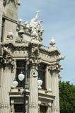 Hus med chimeras, berömd Kiev landmark, Ukraina arkivbild