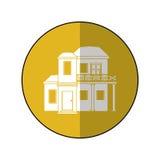 Hus med cirkeln för balkongtakträdgård Royaltyfri Fotografi
