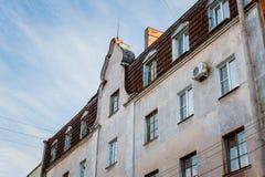 Hus med en loft Royaltyfri Foto
