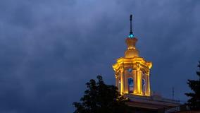Hus med en tornspira, Kharkiv, Ukraina Royaltyfria Foton