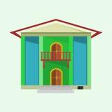 Hus med grön färg Royaltyfri Fotografi