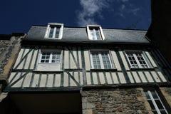 Hus med halva-att timra, Frankrike Royaltyfri Fotografi
